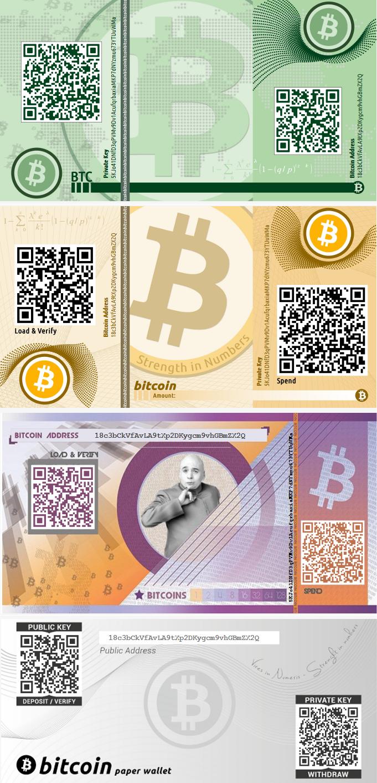 portefeuille papier bitcoins
